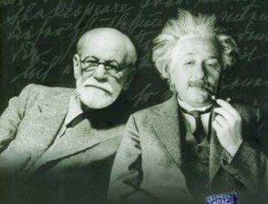 Sigmund Freud and Albert Einstein